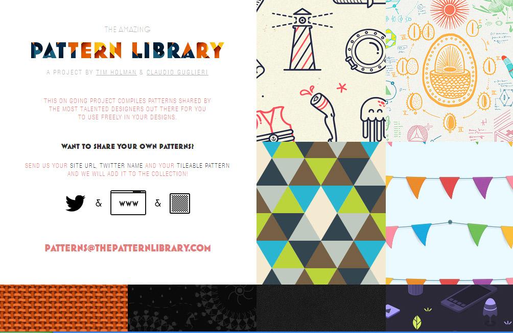 素敵なパターン画像が無料でダウンロードできる The Pattern Library